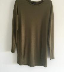 TopShop maslinasta sweatshirt vel S