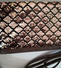 Šljokičasta zlatna torbica
