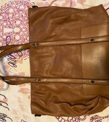 Zara shopper torba boje konjaka 100 kn
