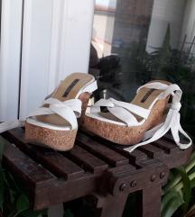NOVE bijele sandale PRAVA KOŽA