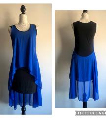 Kraljevsko plava/crna haljina