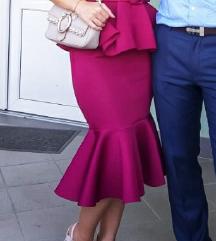 Spanjolska peplum haljina- jednom nosena