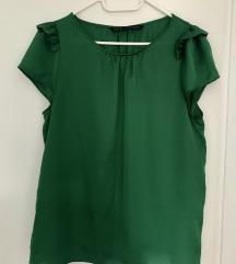 Zara zelena svilena bluza
