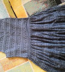 Zara haljina od čipke petrolej plava boja