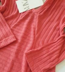 ZARA roza midi haljina- NOVO s etiketom🎀