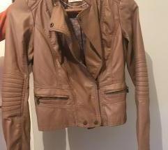 Smeda kožna jakna