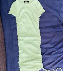 Bershka zelena haljina XS