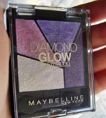 Maybelline Diamond glow paleta sjenila