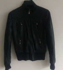 Crna biker jakna
