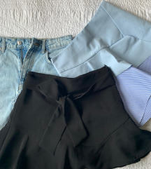 Zara mini suknja 2x i bermude