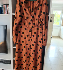 Mango suit točkasta maxi haljina, viskoza