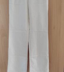 Mango bijele ljetne hlače