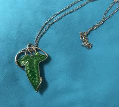 Lorienski list ogrlica/kopča