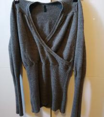 Benetton sivi pulover S/M