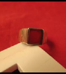 Prsten, karnelski kamen, srebro 925