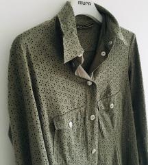 Creme de la creme khaki košulja jakna vel M