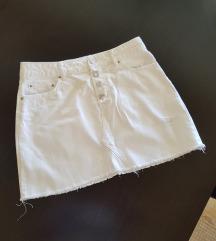 ZARA bijela traper suknja