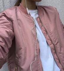 Stradivarius roza bomber jakna