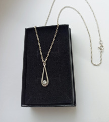 Lančić sa cirkonom, srebro 925