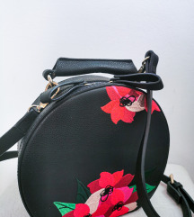 Zara flower embroidery round bag