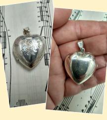 Vintage medaljon za slike, srebro 925