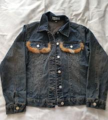 Jeans jakna sa pravim krznom M vel