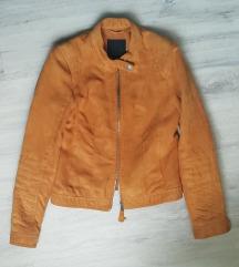 Senf jakna brušena koža sa PT
