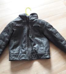 kožna zimska jakan za dječake 98