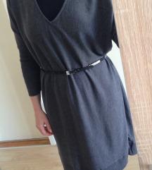 Oversized siva haljina S,36