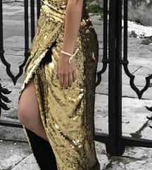 Zlatna haljina ASOS - XS