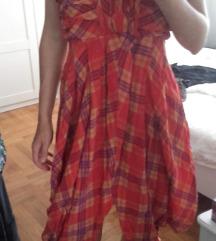Crvena haljina 100% svila