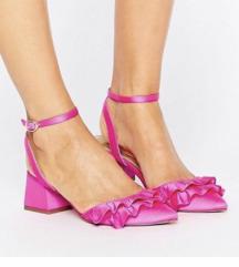 Sandale sa volanima na blok petu