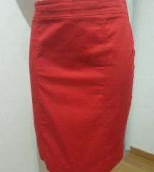 C&A crvena pencil suknja, vel. realno S
