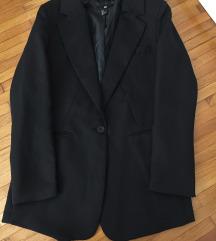 Novo H&M crni oversized svečani sako