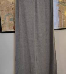 Maxi siva suknja