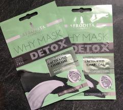 Afrodita Cosmetics Why mask Detox  (setu od 2 kom)