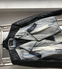 Kožna- traper jakna