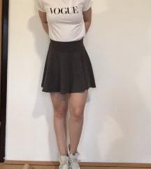 Siva skater suknja