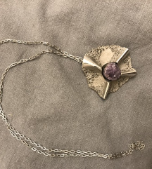 Vintage srebrni lančić s privjeskom