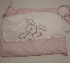 Posteljina i ogradica za krevetić