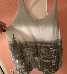 Topshop bijela majica bez rukava print New York