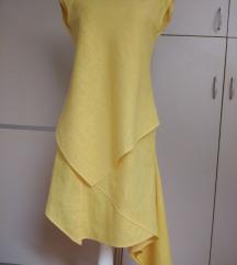 Žuta lanena haljina NOVA