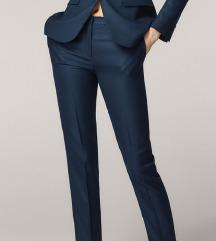 MASSIMO DUTTI plave hlače na crtu