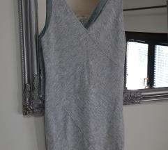 Siva bershka haljinica novo%
