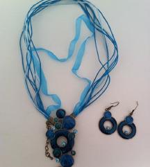 Komplet ogrlica + naušnice