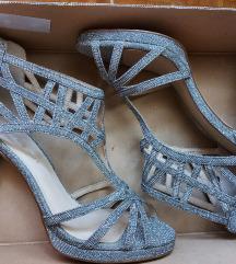 Srebrne šljokaste sandale