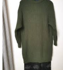 zara pletena haljina s cipkom