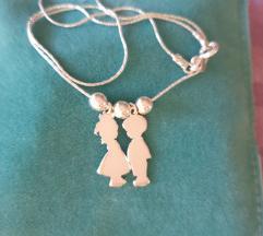 Srebro 925 lančić dječak i djevojčica