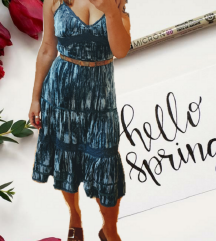 SMART SET plava midi velvet haljina 🎀