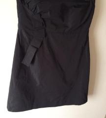 Haljina bez ramena,crna M